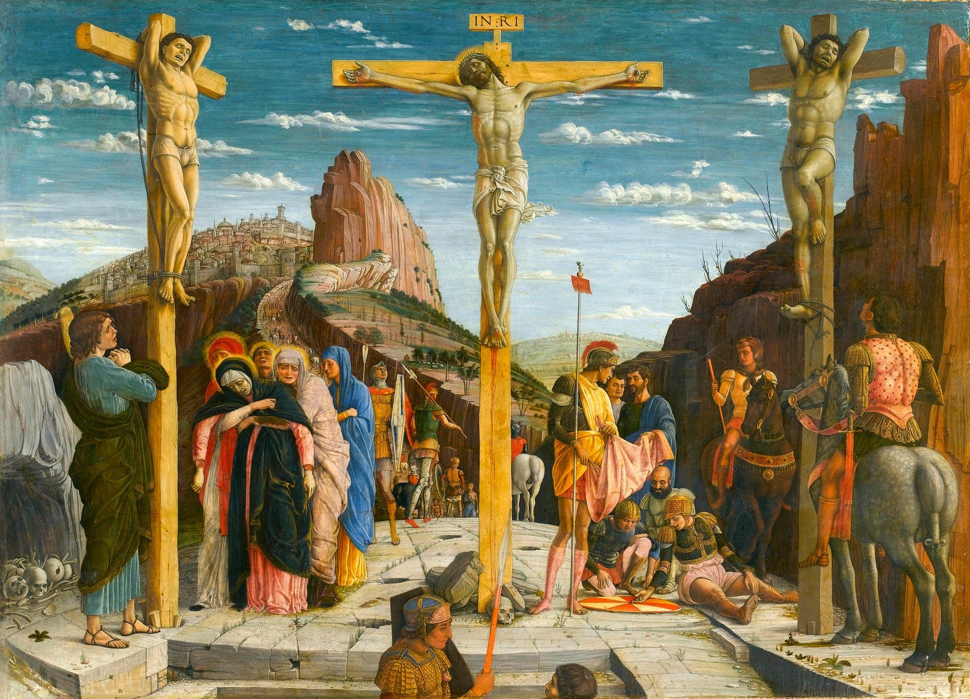 Mantegna,_Andrea_-_crucifixion_-_Louvre_from_Predella_San_Zeno_Altarpiece_Verona